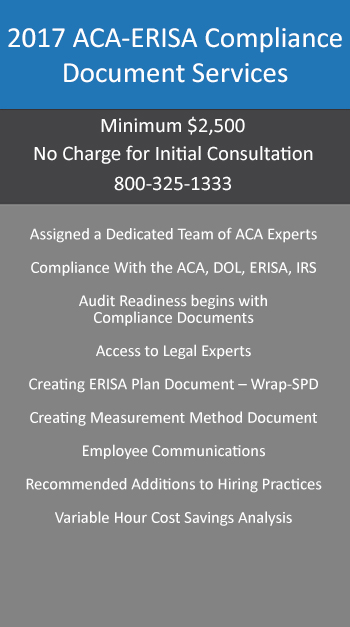 Aca Compliance Packages Aca Reporting Service